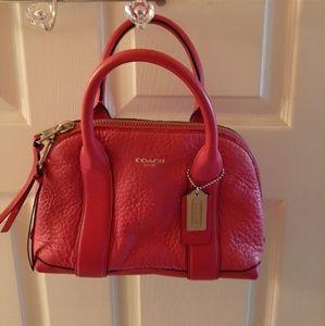 Coach satchel hot pink
